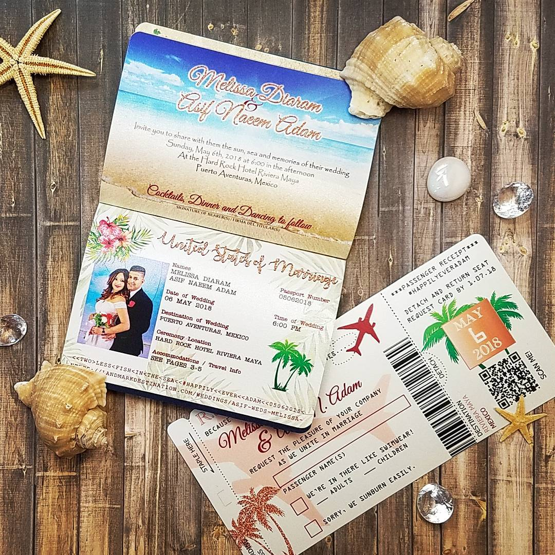 custom wedding passport